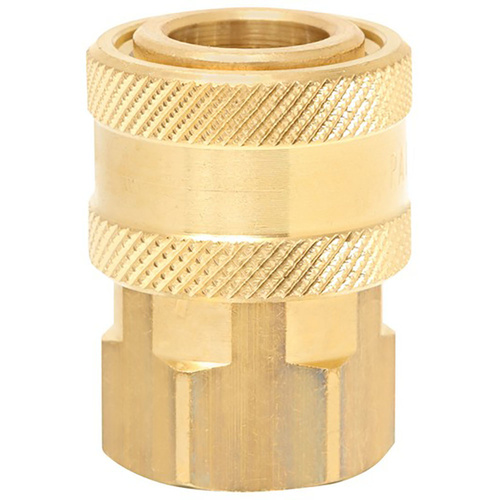 "QC 1/4"" BSP F NICKEL PLATED BRASS TO 4050 PSI COUPLING"