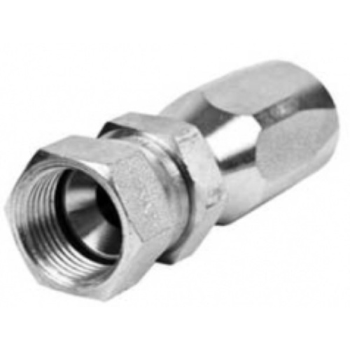 JIC (REUSABLE) FEMALE 37 SWIVEL STRAIGHT  1/4 X 9/16