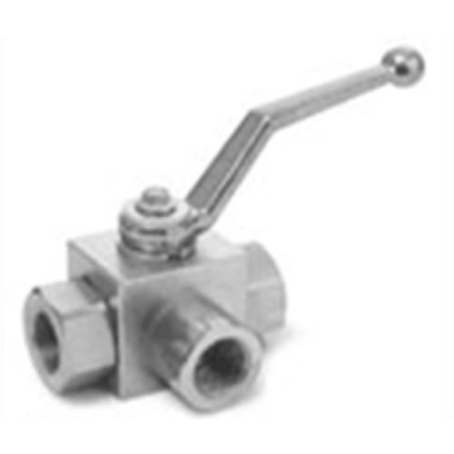 "HIGH PRESSURE 1/2"" 5075 PSI BALL VALVE 3 WAY"