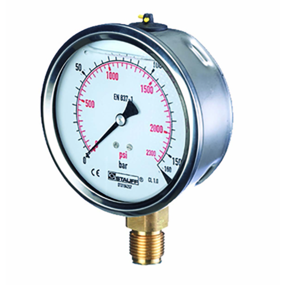 0 -100 BAR(1450 PSI) PRESSURE GAUGE